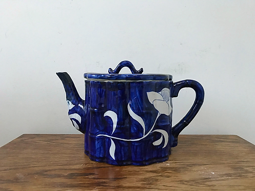 Hand-painted blue & white teapot