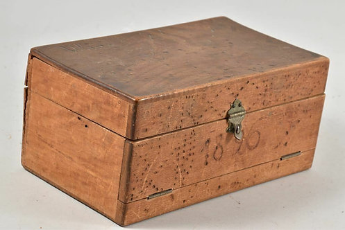 Old wooden box, dated 1896, German