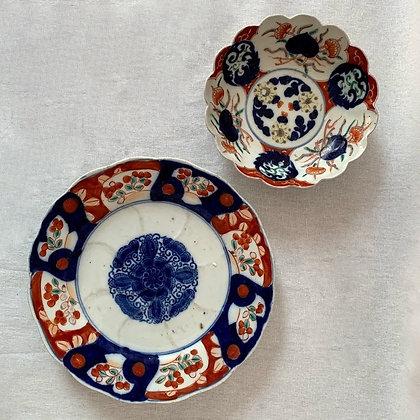 2 x Japanese Hand-Painted Imari Items