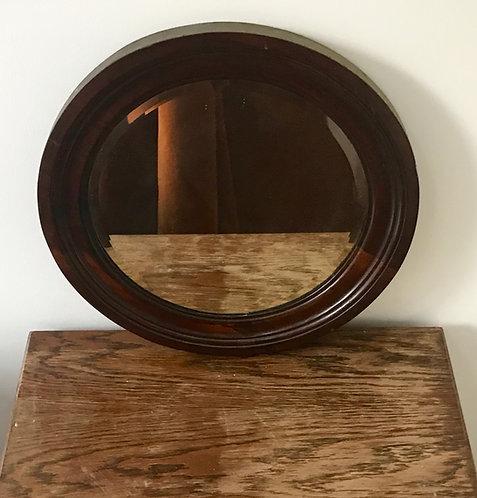 Beautiful Round Wooden Mirror