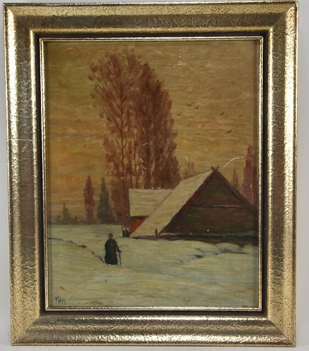 Oil Painting, North German, signed. Migg
