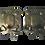Thumbnail: Pair of Brass Dutch Sconces