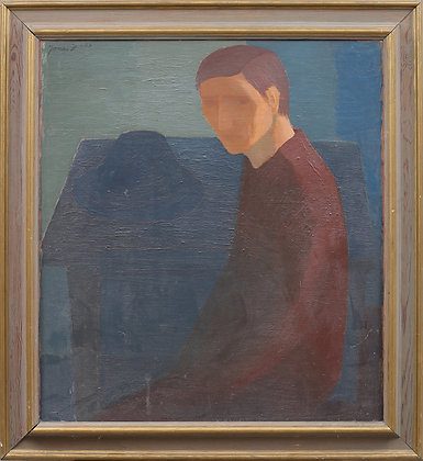Seated Man, Artist Unknown, Dated '53