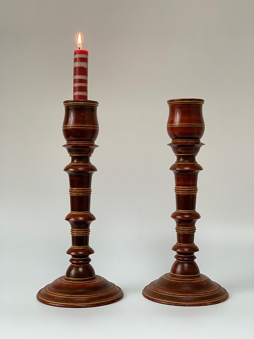 Hand Turned, Eastern Pair of Candlestick, 19th Century