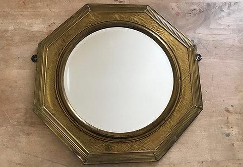 Brass Art Deco Mirror