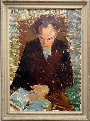 Framed Oil, 'Laban I', Mid Century