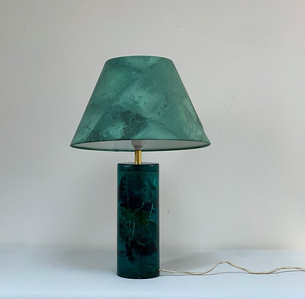 1970s Resin Lamp - Malachite