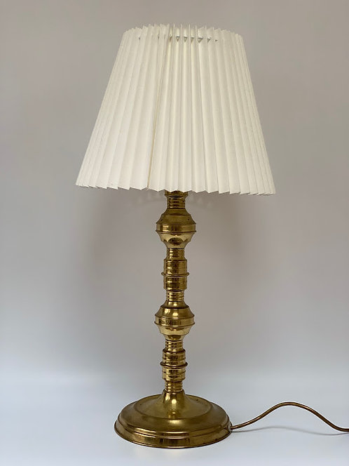 Large Vintage Brass Lamp