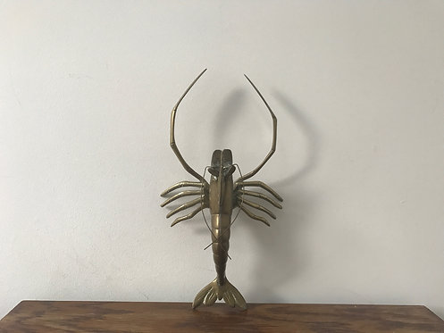 Solid Brass Lobster Ornament