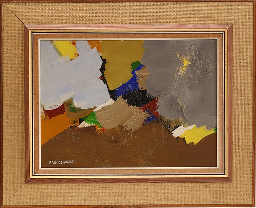 Abstract Framed Oil, by Hans Osswald