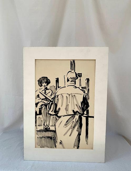 1930s Unframed Lithograph