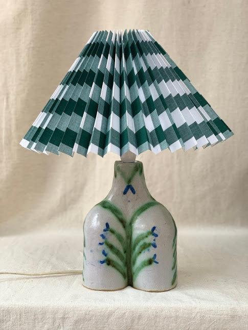 Studio Pottery Lamp, signed.