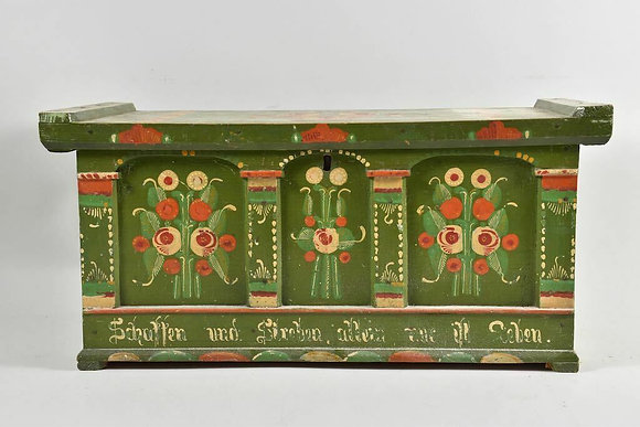 Hand Painted German Folk Art Box