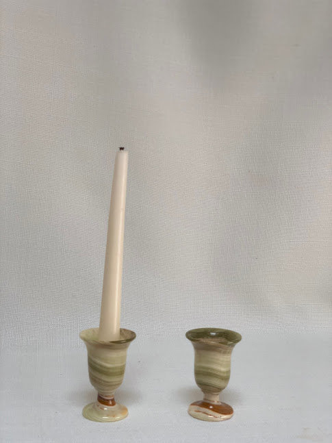 Pair of Onyx Candlesticks