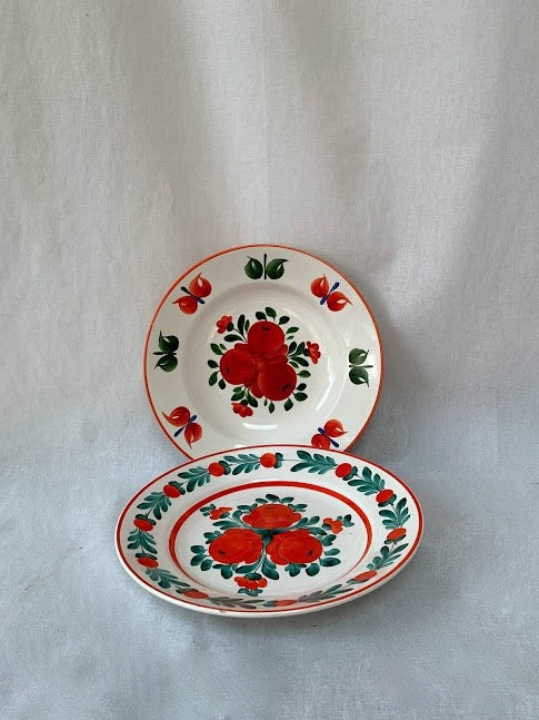 Hungarian Dinner Plate & Soup Bowl