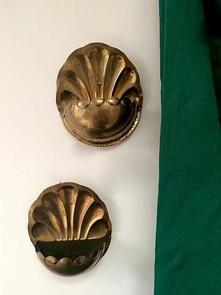 Pair of Brass Wall Pockets