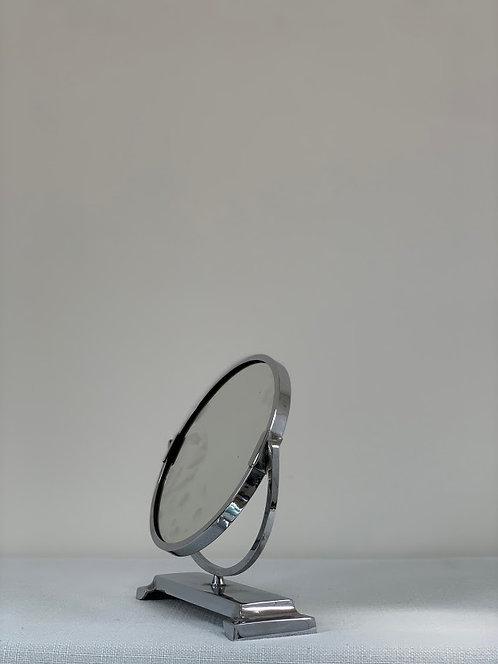Art Deco Chrome Two Way Shaving Mirror