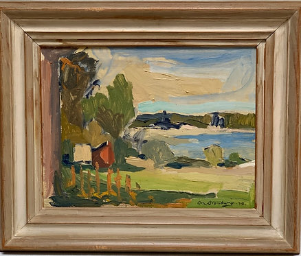 Oil on Panel by Olle Blomberg, 1948, Swedish