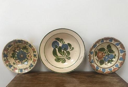 A Set of Three Hafner Ware Plates.