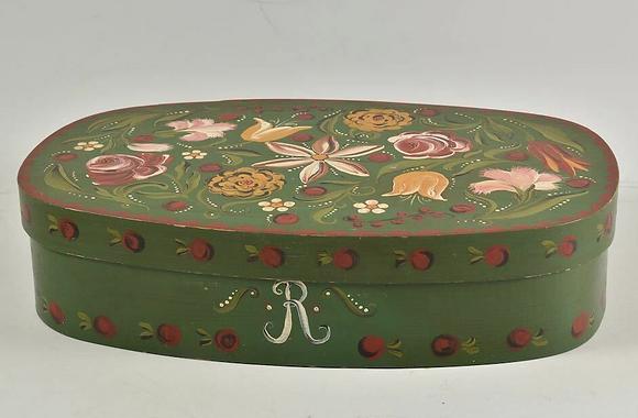 Folk Art Painted Bentwood Box