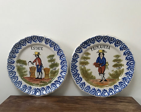 Majolica Four Season Plates