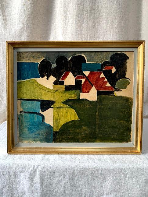 Framed Oil by Rolf Swedberg