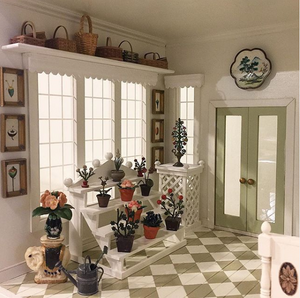 conservatory dolls house plants building rooms interiors