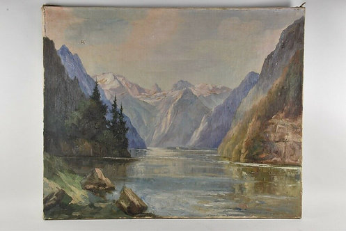 Oil Painting On Canvas, 20th Century, European