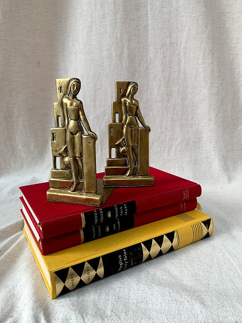 Pair of Art Deco Bookends by A G Bunge