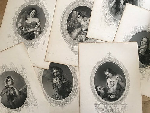 Collection of eight engravings