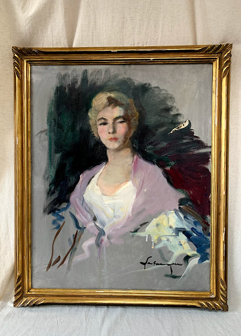 Female Portrait by Ernest Santasusagna