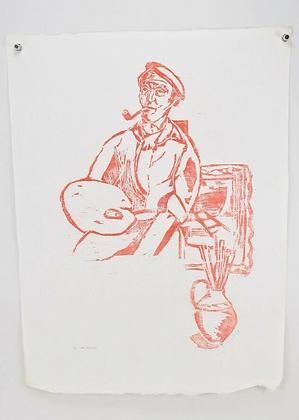 Woodcut, signed Gustav Grund (1912-1995), dat. 54