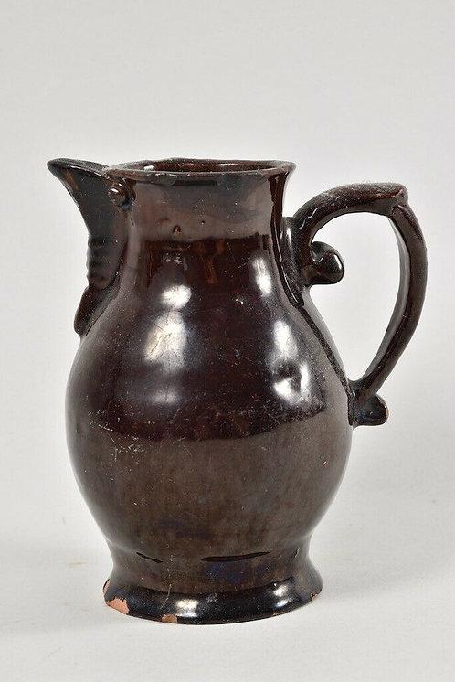 Old Glazed Ceramic Jug