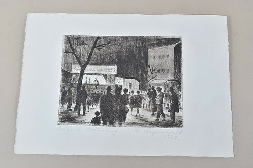 Hand signed Etching by H Jaegerschmid. 1927