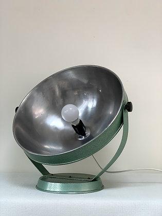 50s Giant Green Metal Reflector Spotlight