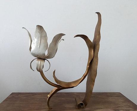 Large Metal Tulip Sconce