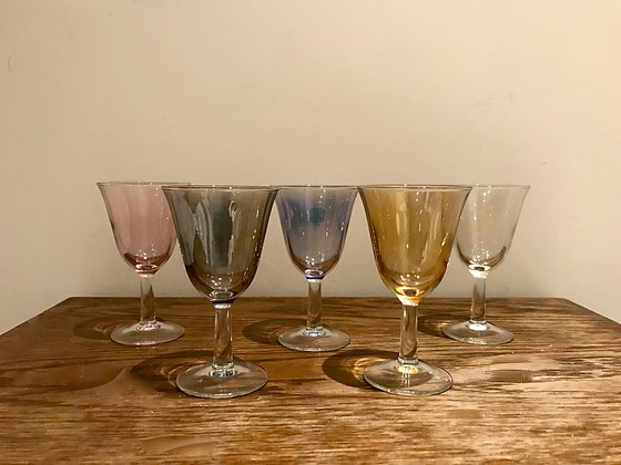 Coloured Sherry Glasses