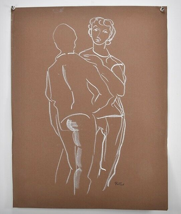Pastel drawing by Gustav Grund