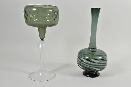 Two 1970s Glass Pieces