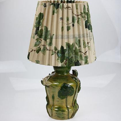 Hand Made Art Nouveau Lamp, Signed