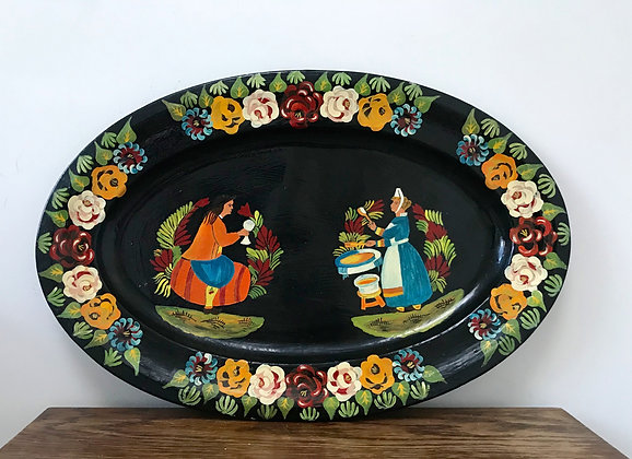 Bargeware Hand Painted Tray
