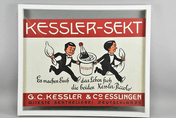 Framed Advertising For Kessler Sekt Champagne