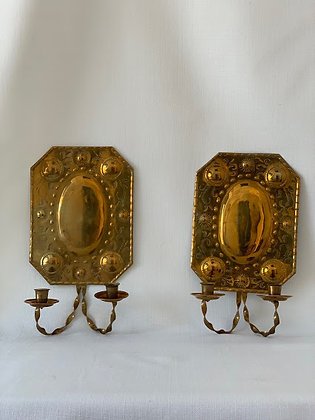 20th Century Swedish Brass Sconces