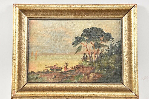 Small Framed Oil, Late 19th Century