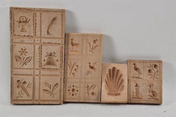 4x Springerle Wood Baking Molds