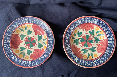 Pair of 19th Century Spongeware Bowls