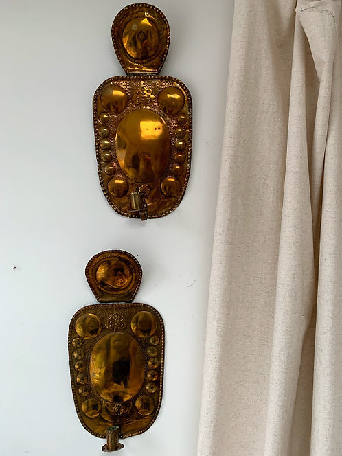 20th Century Brass Sconces