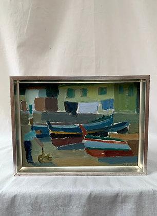 Framed Oil on Panel By Sigvard Holmqvis