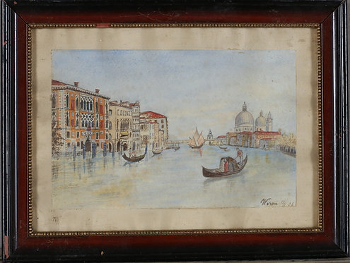 Framed Watercolour, Venice