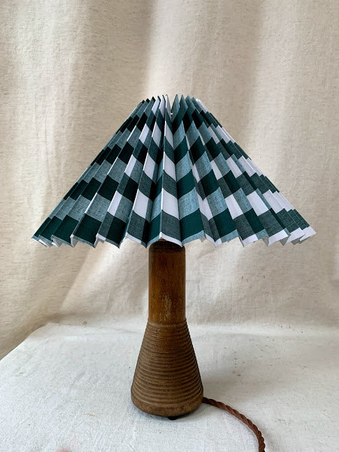Wooden Bobbin Converted to Table Lamp
